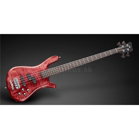 Warwick Masterbuilt Streamer LX, 4-String - Bleached Burgundy Red Transparent Satin