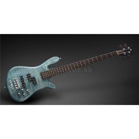 Warwick Masterbuilt Streamer LX, 4-String - Bleached Turquoise Blue Transparent Satin