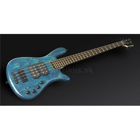 Warwick Masterbuilt Streamer $$, 4-String - Turquoise Blue Transparent Satin