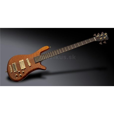 Warwick Masterbuilt Streamer Jazzman, 5-String - Amber Transparent Satin