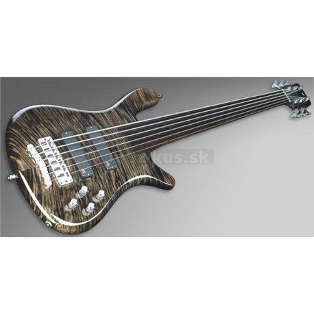 Warwick Masterbuilt Streamer LX, 6-String - Nirvana Black Transparent High Polish Fretless