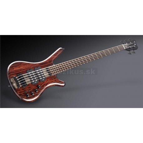 Warwick Masterbuilt Corvette $$ NT Bubinga, 5-String - Nirvana Black Transparent Satin
