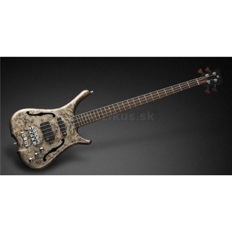 Warwick Masterbuilt Infinity, Birdseye Maple, 4-String - Bleached Nirvana Black Transparent High Polish