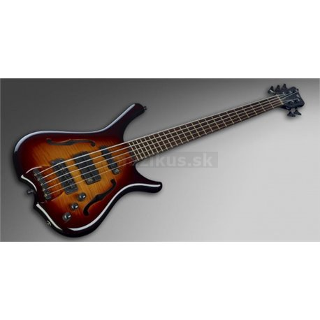 Warwick Masterbuilt Infinity, Flamed Maple, 5-String Vintage Sunburst Transparent High Polish