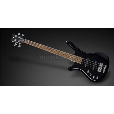 Warwick RockBass Corvette Basic, Lefthand, Shortscale, 4-String - Black Solid High Polish