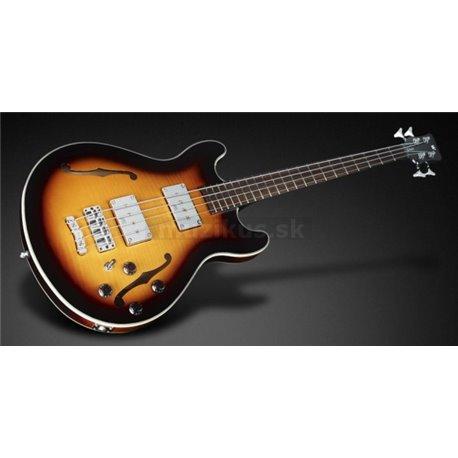 Warwick Masterbuilt Star Bass II Flamed Maple, 4-String - Vintage Sunburst Transparent High Polish, Chrome hardware
