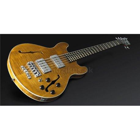 Warwick Masterbuilt Star Bass II Flamed Maple, 5-String - Honey Violin Transparent Satin, Chrome Hardware