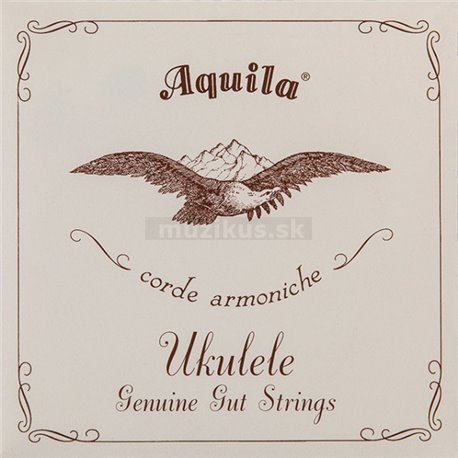 Aquila 1U - Genuine Gut, Ukulele String Set, Soprano, High-G Tuning