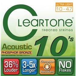 Cleartone Acoustic EMP Phosphor Bronze, Acoustic Guitar String Set, Ultra Light, .010-.047