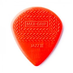 Dunlop Nylon Max Grip Jazz III Picks, Player's Pack, 6 pcs., red, 1.38 mm
