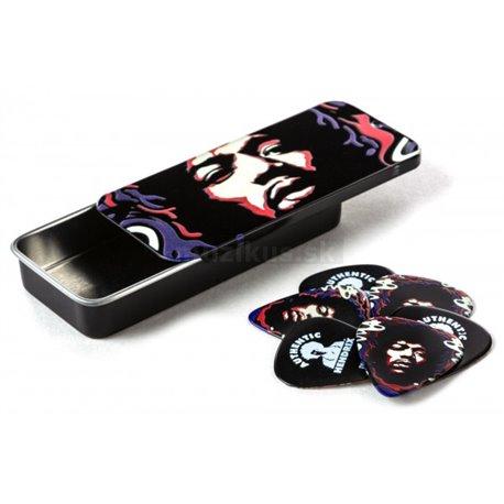 Dunlop Jimi Hendrix Star Haze Pick Tin, 6 Picks, Heavy