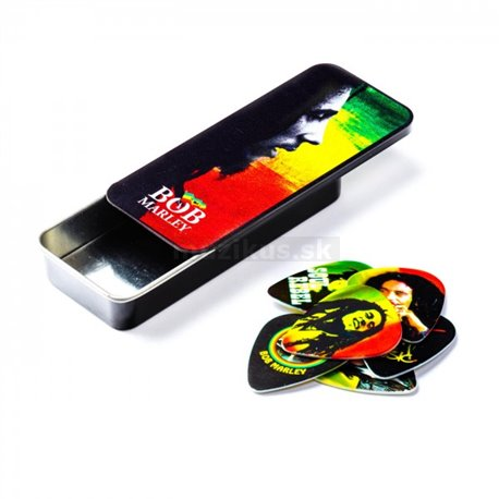 Bob Marley Rasta Pick Tin, Heavy 6 picks
