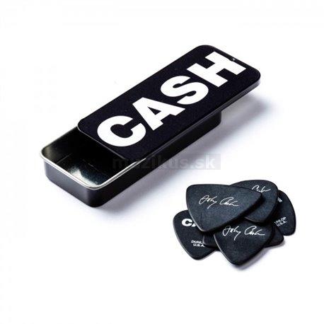 Dunlop Johnny Cash Bold Pick Tin, 6 Picks, assorted motives, heavy