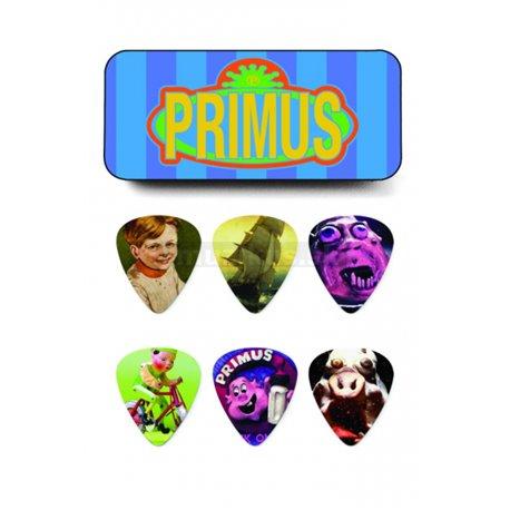 Dunlop Primus Pick Tin, 6 Picks, assorted motives, heavy