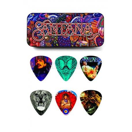 Dunlop Santana Pick Tin, 6 Picks, assorted motives, heavy