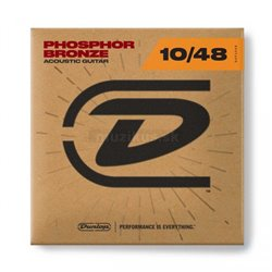 Dunlop Acoustic Phosphor Bronze, Acoustic Guitar String Set, Extra Light, .010-.048