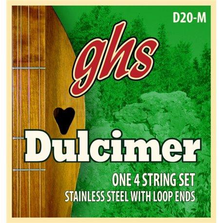 GHS D20-M - Dulcimer String Set, D-Mixolydian Tuning, Loop End