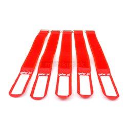 Gafer.pl Tie Strapsvázací pásky, 25x550mm, 5 ks, červené