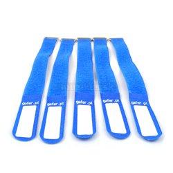 Gafer.pl Tie Straps, vázací pásky, 25x260mm, 5 ks, modré