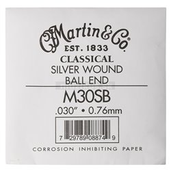 MARTIN Classical Nylon Ball End Single - 4th Silver Wound