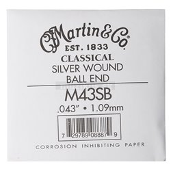 MARTIN Classical Nylon Ball End Single - 6th Silver Wound
