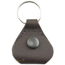 PERRI'S LEATHERS Pick Keychain Brown