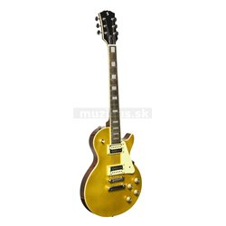 Stagg SEL-STD GOLD, elektrická kytara, zlatá