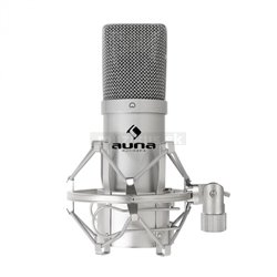 Auna Pro MIC-900S kondenzátorový mikrofón, striebro