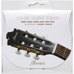 IBANEZ String Set 6 String Normal Tension .0280/.0322/.0403/.029/.035/.043 Clear Nylon / Silverplated Wound