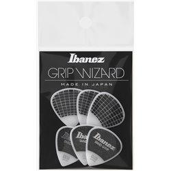 IBANEZ Grip Wizard Series Sand Grip Flat Pick white 6 pcs.