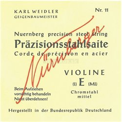 NĂśRNBERGER STRINGS FOR VIOLIN PRECISION SOLID CORE 1/2 74