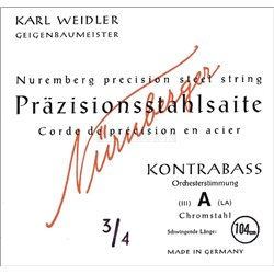 NĂśRNBERGER STRINGS FOR DOUBLE BASS PRECISION ORCHESTRA TUNING 3/4 204