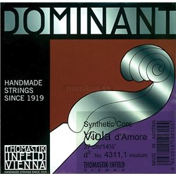 "THOMASTIK STRINGS FOR VIOLA D'AMORE DOMINANT D"" 720"