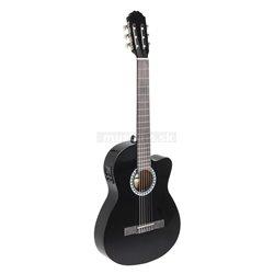 PURE GEWA Koncertní kytara Basic Plus Electro E-akustická, černá, slim body