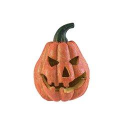 Halloween dýně s glitry, 19 cm