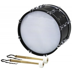 BSX Pochodový bubínek Bass drum - 18x10'' bílé