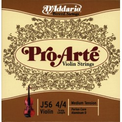 D'Addario struny pro housle Pro Arte Perlon Core Medium - E Plain Steel J5601