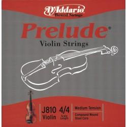 D'Addario struny pro housle Prelude - D nikl ovinuté J813
