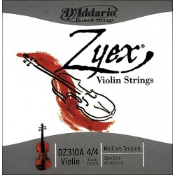 D'Addario struny pro husle Zyex - Medium DZ311