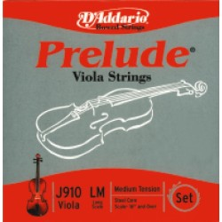 D'Addario struny pro violu Prelude Steel Core - Medium J912