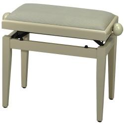 FX Lavička pro piano de Luxe Slonovinový lesk - béžové sedadlo
