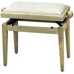 FX Lavička pro piano de Luxe Natur - béžové sedadlo