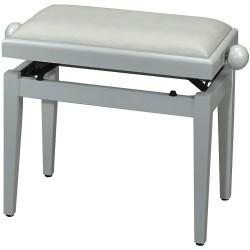 FX Lavička pro piano de Luxe Bílý vysoký lesk - bílé sedadlo