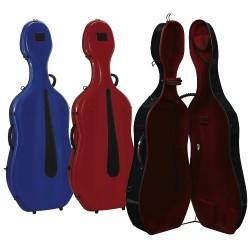 Gewa púzdro pro Cello Idea vysoký lesk Evolution 4.9 kg - Bílá/červená