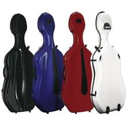 Gewa púzdro pro Cello Idea vysoký lesk Evolution kolečka - Bílá/červená