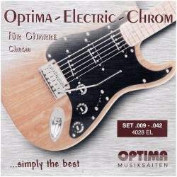 Optima struny pro E-kytaru Chrome Strings. Round Wound - E1 .009