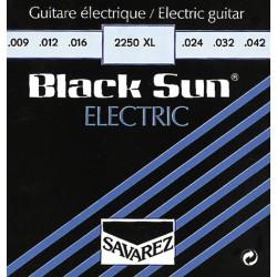 Savarez struny pro E-kytaru Black Sun-půlkulaté, ovinuté - E1 .008 2251SL