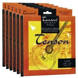 TENSON Struny Akustický Bass, fosforová bronz - .045-.105, Medium/Light Sada+