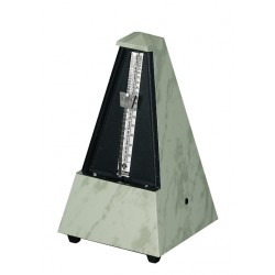 Wittner Metronom Designer Serie. Se zvonem Pyramidový tvar - Bílý 855103