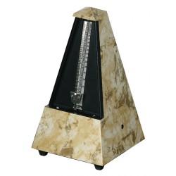 Wittner Metronom Designer Serie. Se zvonem Pyramidový tvar - Světle/hnědý 855104